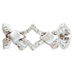 Little White Diamonds, 18 Karat White Gold Fashion Style Ring