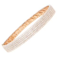 Little White Diamonds, 18kt Rose Gold Bangle Bracelet
