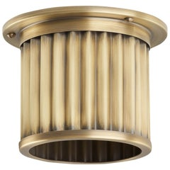 Littleton End Cap Spot Diffuser, Aged Brass Recessed Spot Light Shade