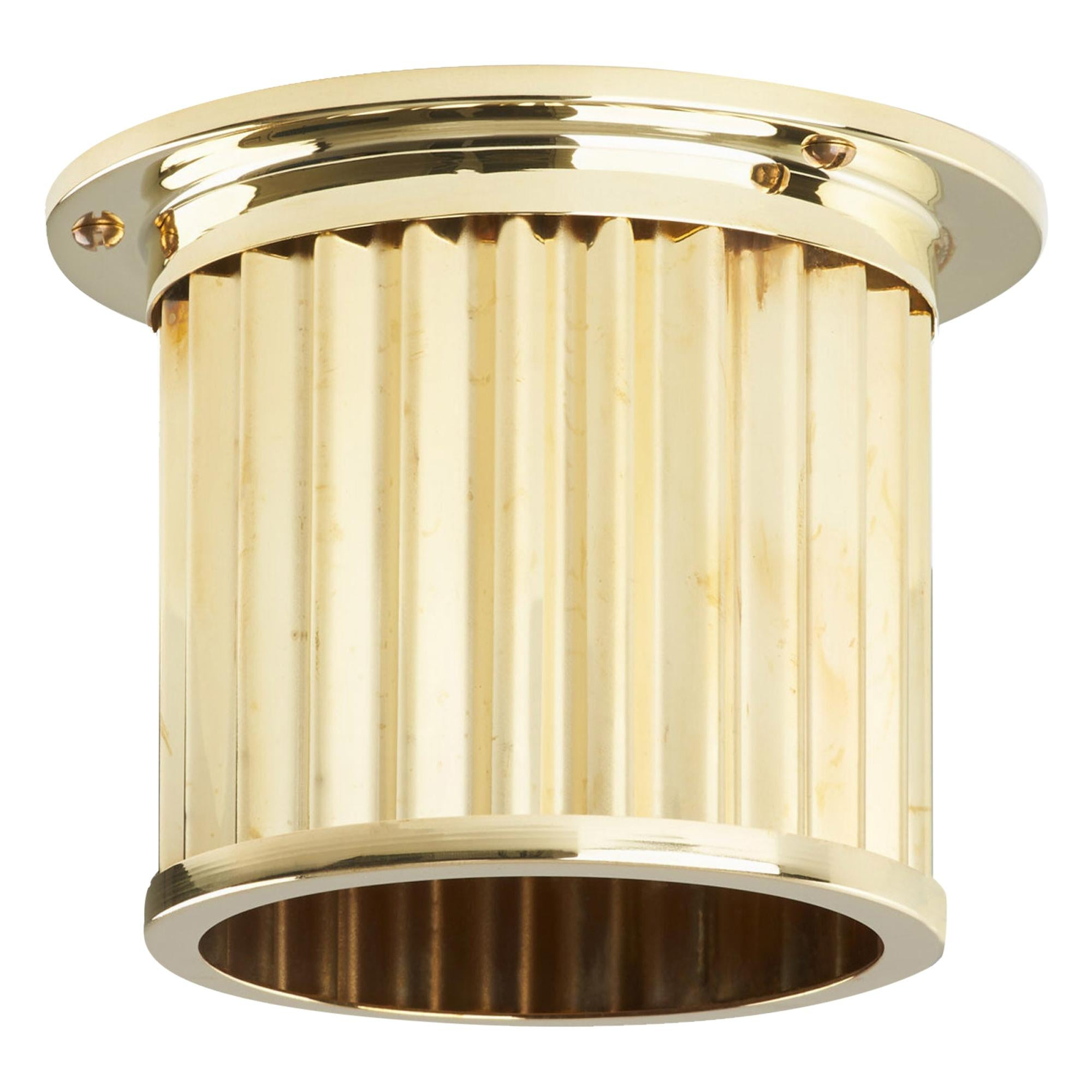 Littleton End Cap Spot Diffuser, Polished Brass Recessed Spot Light Shade
