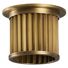 Littleton End Cap Spot Diffuser, Raw Brass Recessed Spot Light Shade