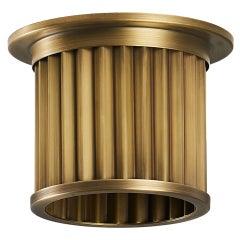 Littleton End Cap Spot Diffuser, Raw Brass Recessed Spot Light Shade