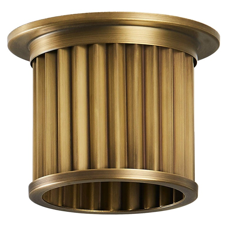 Littleton End Cap Spot Diffuser, Raw Brass Recessed Spot Light Shade For Sale