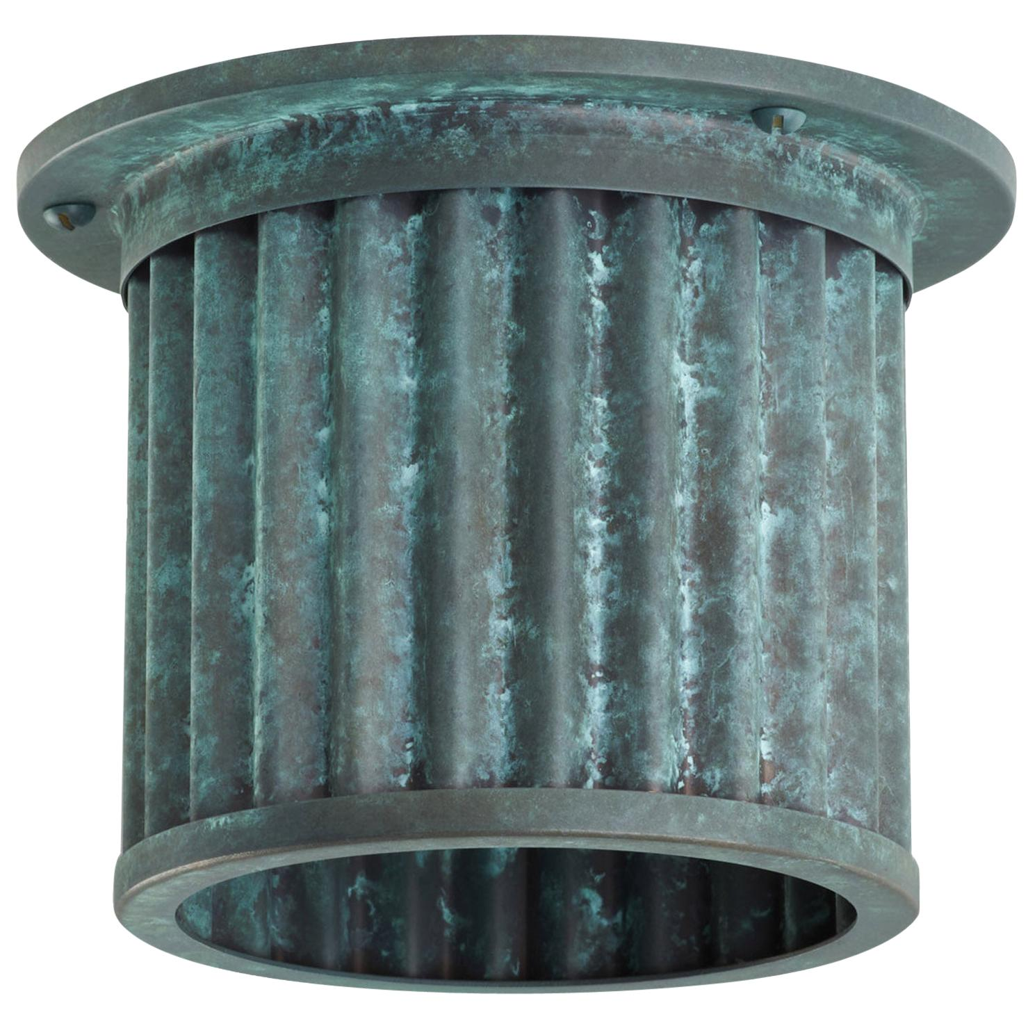 Littleton End Cap Spot Diffuser, Verdigris Recessed Spot Light Shade
