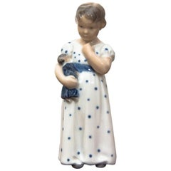 Little Girl Figurine from Royal Copenhagen, 1920s