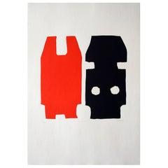 """Litwisto"" Original Bauhaus Artist Linocut Print, Signed Werner Graeff"