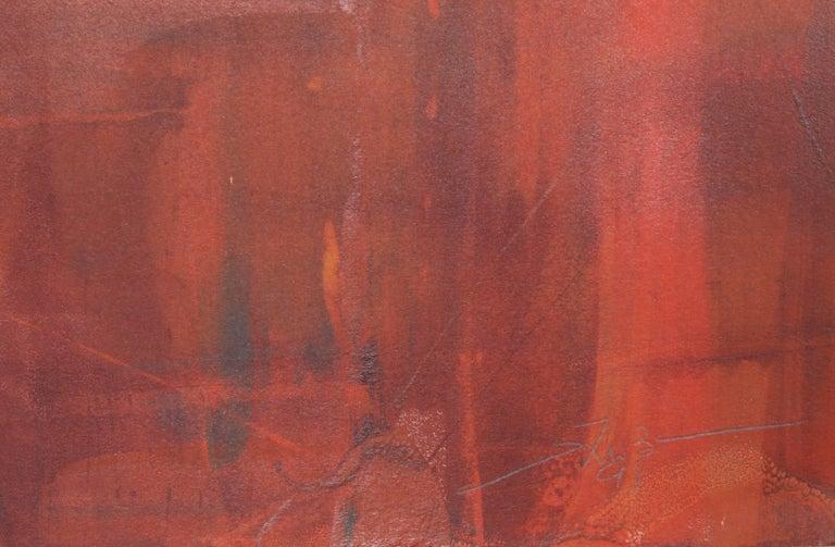 Abstract Monoprint by Liu Jian For Sale 1