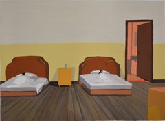 Youyi Hotel, Small Realist Painting by Liu Xiaohui