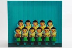 LIU YE CHILDREN IN CHORUS acrilic on canvas