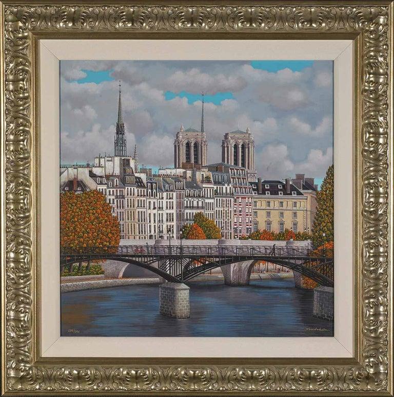 European Cities ( Paris)  - Mixed Media Art by Liudmila Kondakova