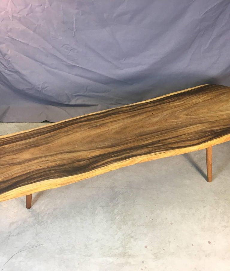 Live Edge Black Walnut Slab Coffee Table For Sale 1