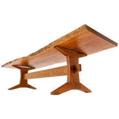 Live Edge Dining Table in Cherry by Goebel