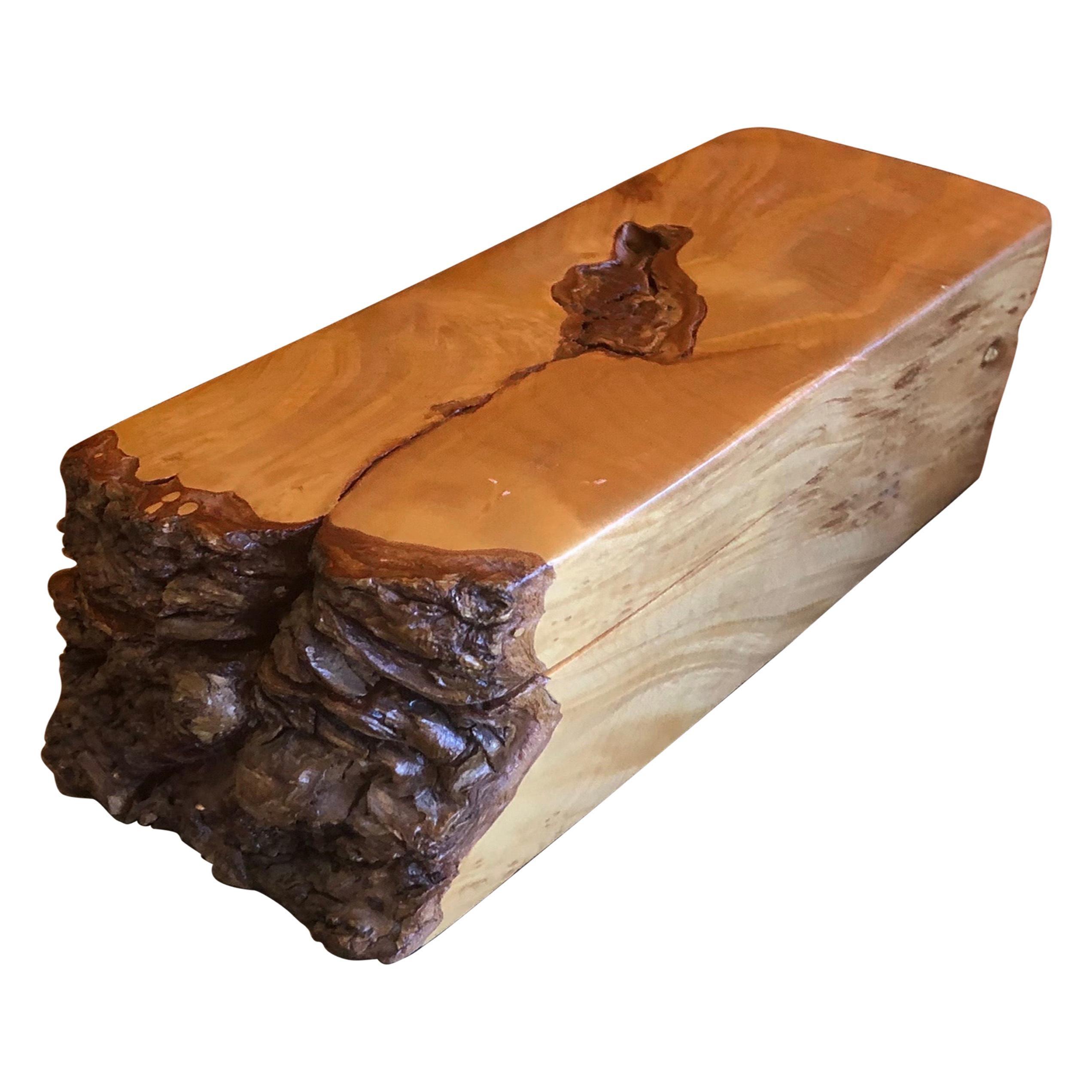 Live Edge in Maple Burl Wood Trinket Box