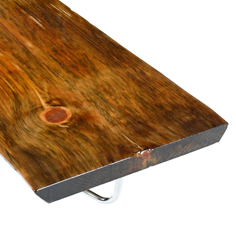 Adirondack Rustic Free Edge Slab Table For Sale At 1stdibs: Spalted Pine Coffee Table Bench, Rustic Live Edge For Sale