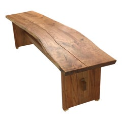 Live Edge Trestle Bench in Cherry by Brian Holcombe