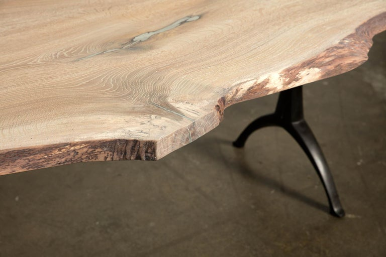 Our Live Edge White Oak Table features the beautiful