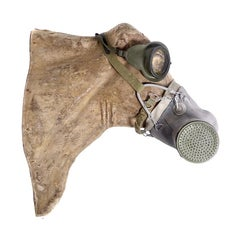 Livestock Gas Mask on an Antique Paper Mache Head