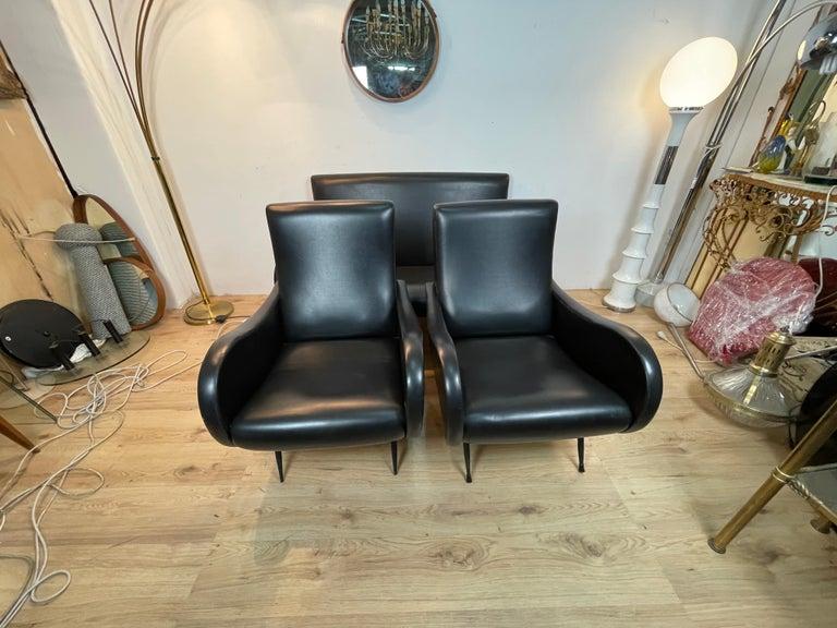 Italian Living Room 3 Pieces Zanuso For Sale