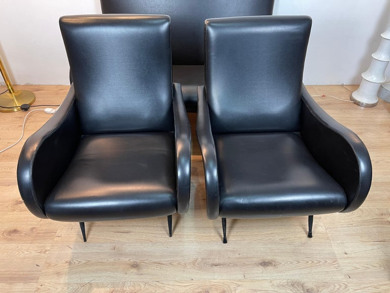 Mid-20th Century Living Room 3 Pieces Zanuso For Sale