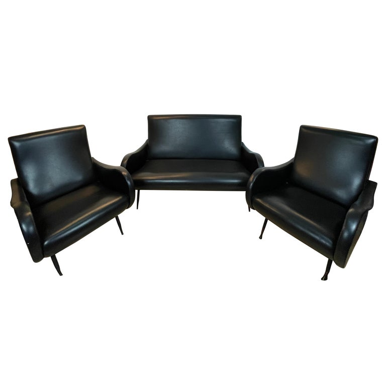 Living Room 3 Pieces Zanuso For Sale