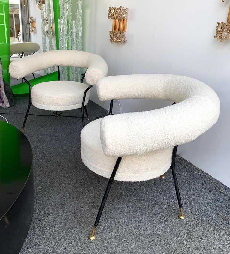 Metal Living Room Set by IPA Bologne, Italy, 1950s For Sale