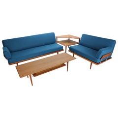 Living Room Set by Peter Hvidt & Orla Mølgaard Nielsen for France & Søn, 1950s