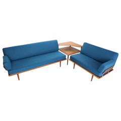 Living Room Set by Peter Hvidt & Orla Mølgaard Nielsen for France & Søn, 1950s