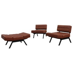 Living Room Sets Rito Valla Ipe Brevetti Italian Design 1960 Iron Faux Leather