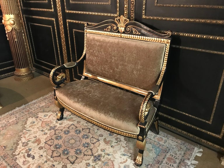 European Living Room Suite in the Empire Style For Sale