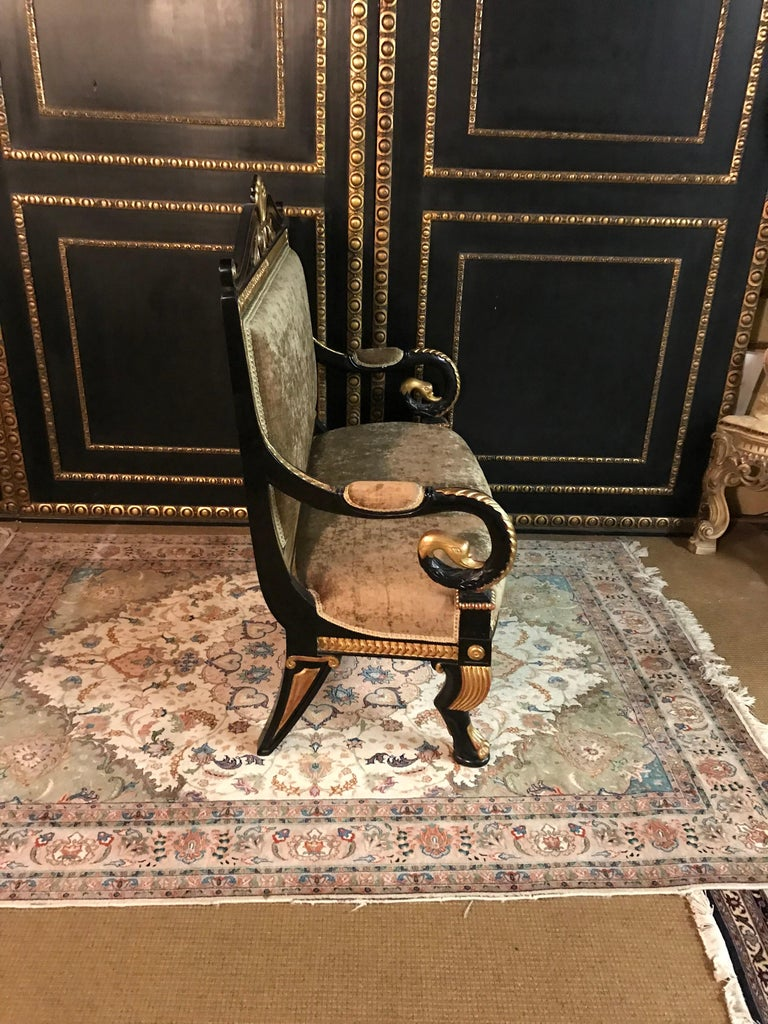 Beech Living Room Suite in the Empire Style For Sale