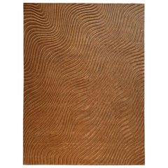 Living Room Wool Area Rug Warm Sand Color by Deanna Comellini 300x400 cm