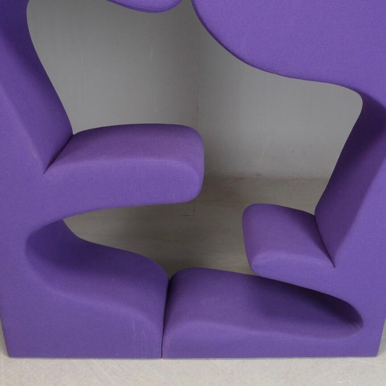 Danish Living tower in purple fabric by Verner Panton for Vitra For Sale