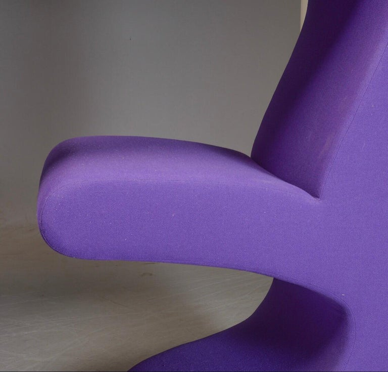 Living tower in purple fabric by Verner Panton for Vitra In Good Condition For Sale In Haderslev, DK