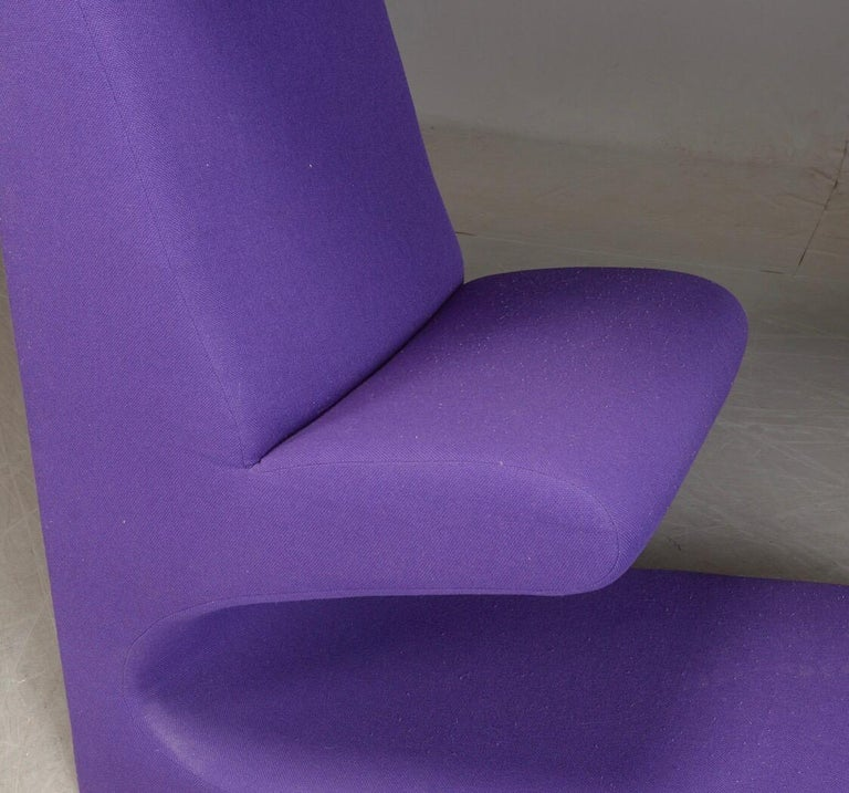 Late 20th Century Living tower in purple fabric by Verner Panton for Vitra For Sale