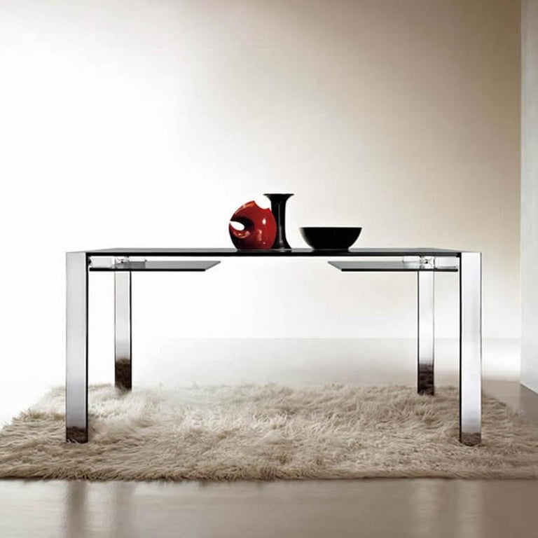 Livingstone Glass Dining Table, Designed by Giulio Mancini, Made in Italy In New Condition For Sale In Beverly Hills, CA