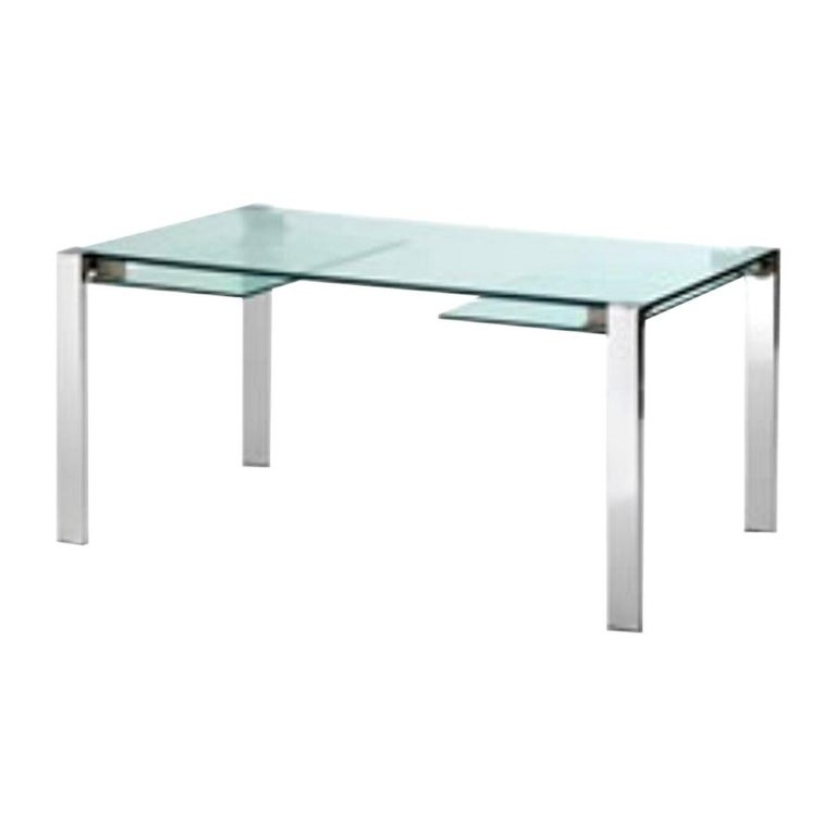 Livingstone Glass Dining Table, Designed by Giulio Mancini, Made in Italy For Sale