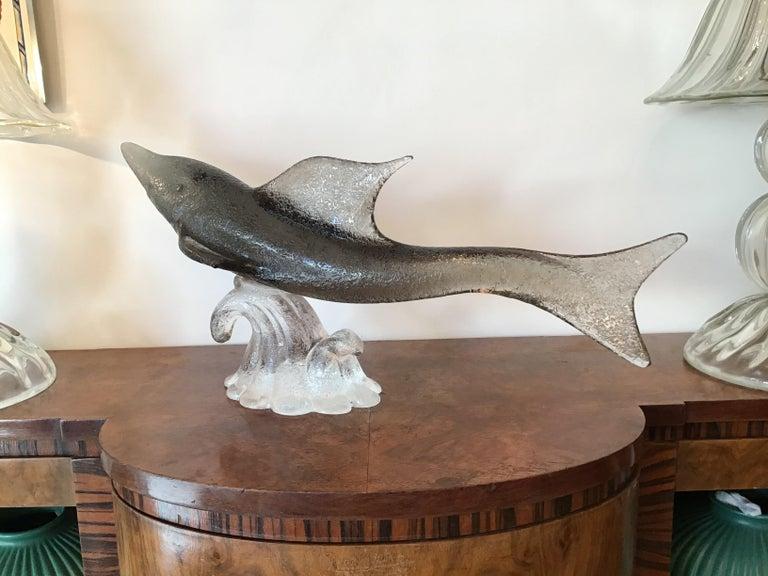 """Livio Seguso """"Dolphin"""" Murano Glass, 1955, Italy For Sale 2"""