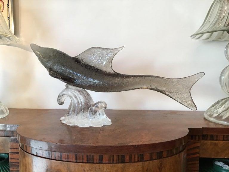 """Livio Seguso """"Dolphin"""" Murano Glass, 1955, Italy For Sale 3"""