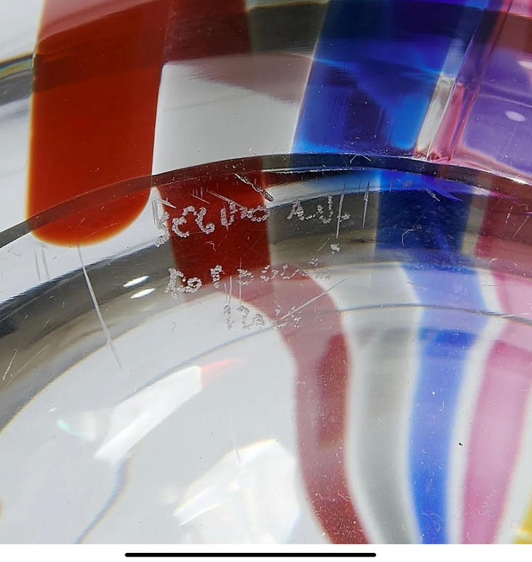 Mid-Century Modern Livio Seguso for Seguso AV / Oggetti Rainbow Vase, Murano Glass, Italy, 1970s For Sale