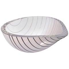 Livio Seguso Murano Glass Bowl Vintage