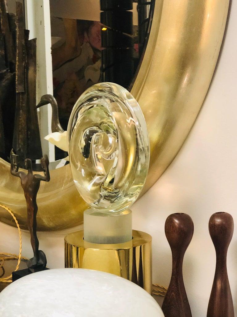 Livio Seguso Pair of Art Glass Murano Table Lamps Sculpture, 1978 For Sale 5