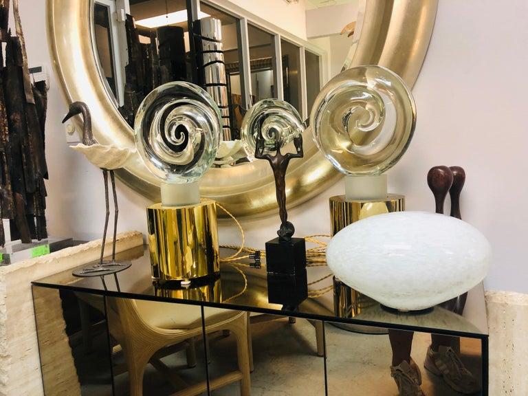 Livio Seguso Pair of Art Glass Murano Table Lamps Sculpture, 1978 For Sale 3