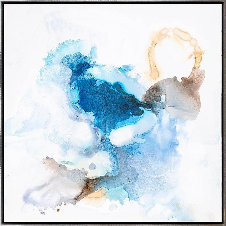 Spring Blue 1 - Mixed Media Art by Liz Barber