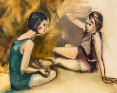 Girl Talk, Oil Painting