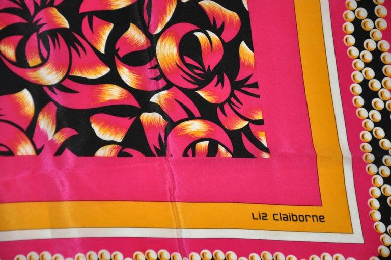 Liz Claiborne Wonderfully Festive Fuchsia & Black