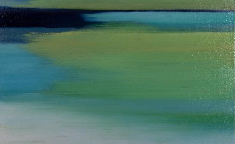 Spring Green Blue I - Painting by Liz Dexheimer