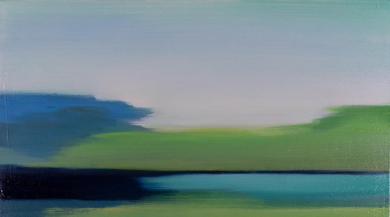 Spring Green Blue I - Contemporary Painting by Liz Dexheimer