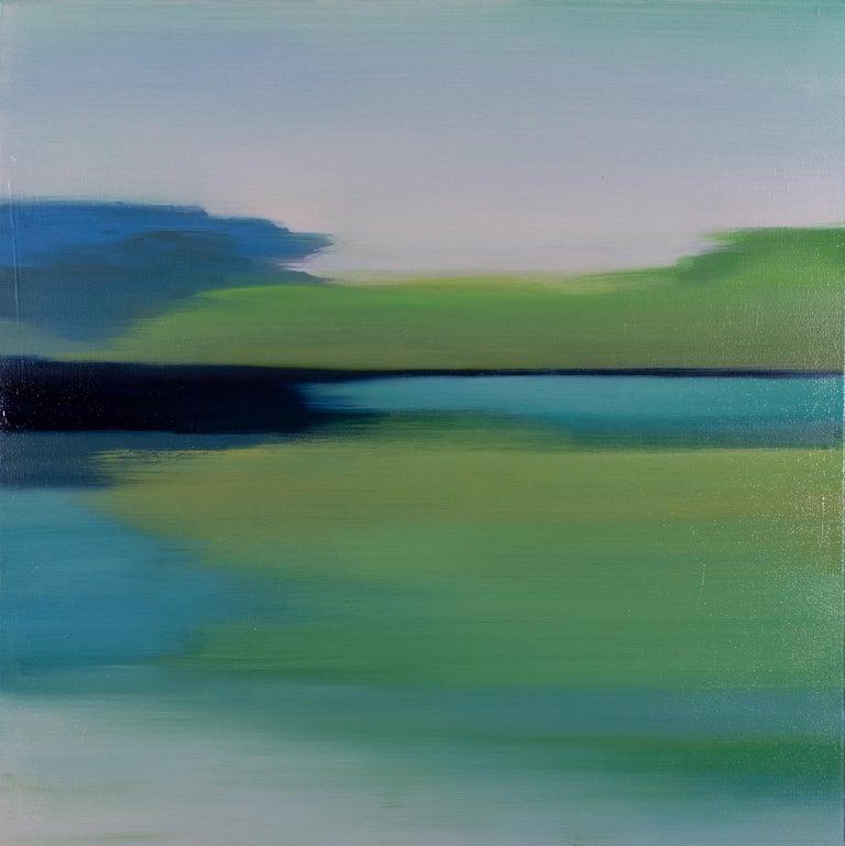 Liz Dexheimer Landscape Painting - Spring Green Blue I