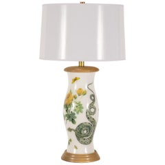 Liz Marsh Rose and Serpent Eden Lamp with White Paper Shade