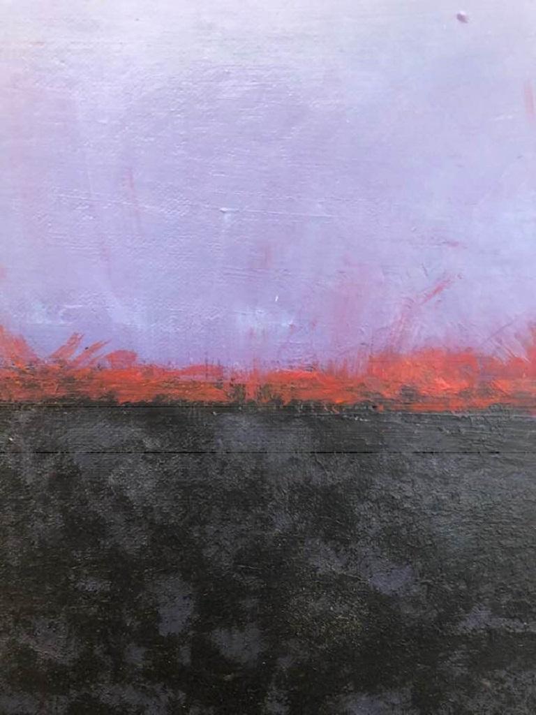 Shoreline Horizon 13C - Painting by Liz Maxwell